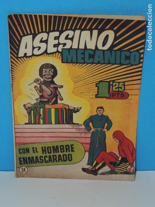 AVENTURA DEL HOMBRE ENMASCARADO .Nº 34. ASESINO MECANICO (Tebeos y Comics - Hispano Americana - Hombre Enmascarado)