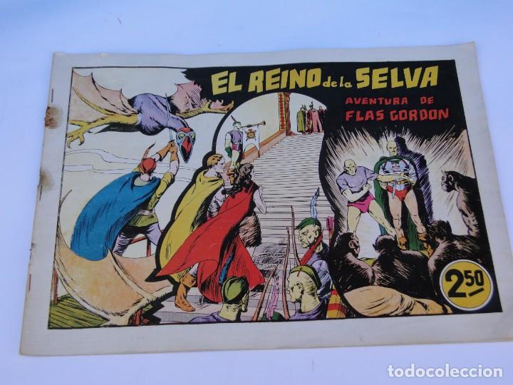 Tebeos: FLASH GORDON (1942, HISPANO AMERICANA) Nº 8 : EL REINO DE LA SELVA - Foto 2 - 289817618
