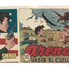 Tebeos: EL PEQUEÑO SHERIFF 202, 1952, HISPANO AMERICANA, ORIGINAL, MUY BUEN ESTADO. Lote 289921663