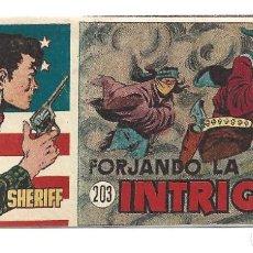Tebeos: EL PEQUEÑO SHERIFF 203, 1952, HISPANO AMERICANA, ORIGINAL, MUY BUEN ESTADO. Lote 289921998