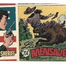 Tebeos: EL PEQUEÑO SHERIFF 204, 1952, HISPANO AMERICANA, ORIGINAL, MUY BUEN ESTADO. Lote 289922318