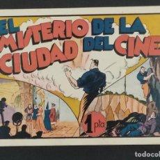 Giornalini: EL MISTERIO DE LA CIUDAD DEL CINE JUAN CENTELLA (21,5X32).HISPANO AMERICANA . ORIGINAL 1940,S. Lote 292127013