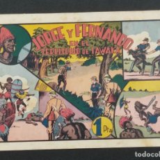 Giornalini: JORGE Y FERNANDO EN EL TERRITORIO DE TAWAKA, (21,5X32).HISPANO AMERICANA . ORIGINAL 1940. Lote 292127473