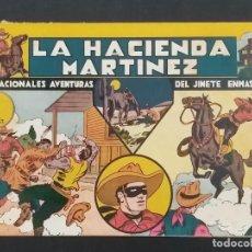 Tebeos: LA HACIENDA MARTINEZ. SENSACIONALES AVENTURAS DEL JINETE ENMASCARADO. ORIGINAL. AÑOS 40. Lote 292140228