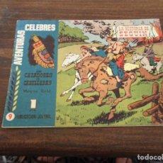 Tebeos: AVENTURAS CELEBRES Nº 9 HISPANO AMERICANO LOS CAZADORES DE CABELLERAS. Lote 295278338