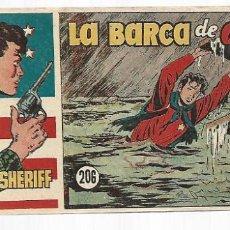 Tebeos: EL PEQUEÑO SHERIFF 206, 1952, HISPANO AMERICANA, ORIGINAL, MUY BUEN ESTADO. Lote 295346358