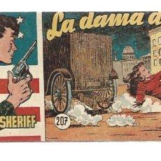 Tebeos: EL PEQUEÑO SHERIFF 207, 1952, HISPANO AMERICANA, ORIGINAL, MUY BUEN ESTADO. Lote 295346678