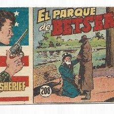 Tebeos: EL PEQUEÑO SHERIFF 208, 1952, HISPANO AMERICANA, ORIGINAL, MUY BUEN ESTADO. Lote 295346998