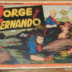 Tebeos: JORGE Y FERNANDO Nº 2, TOMO ROJO ORIGINAL, EDITORIAL HISPAÑO AMERICANA DE LOS AÑOS 40, MIDE 25 X 17. Lote 295416023