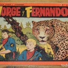 Tebeos: JORGE Y FERNANDO Nº 3, TOMO ROJO ORIGINAL, EDITORIAL HISPAÑO AMERICANA DE LOS AÑOS 40, MIDE 25 X 17. Lote 295416113