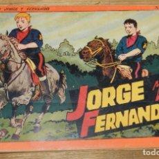Tebeos: JORGE Y FERNANDO Nº 4, TOMO ROJO ORIGINAL, EDITORIAL HISPAÑO AMERICANA DE LOS AÑOS 40, MIDE 25 X 17. Lote 295416313