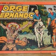 Tebeos: JORGE Y FERNANDO Nº 5, TOMO ROJO ORIGINAL, EDITORIAL HISPAÑO AMERICANA DE LOS AÑOS 40, MIDE 25 X 17. Lote 295416403