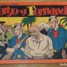 Tebeos: JORGE Y FERNANDO Nº 6, TOMO ROJO ORIGINAL, EDITORIAL HISPAÑO AMERICANA DE LOS AÑOS 40, MIDE 25 X 17. Lote 295416503