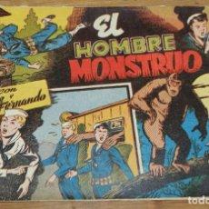 Tebeos: JORGE Y FERNANDO Nº 82, EL HOMBRE MONSTRUO - EDITORIAL HISPANO AMERICANA 1940 - MIDE 24 X 17 CMS. OR. Lote 295421518