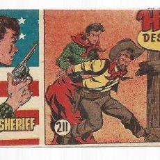 Tebeos: EL PEQUEÑO SHERIFF 211, 1952, HISPANO AMERICANA, ORIGINAL, MUY BUEN ESTADO. Lote 295434173