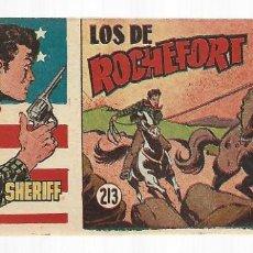 Tebeos: EL PEQUEÑO SHERIFF 213, 1952, HISPANO AMERICANA, ORIGINAL, MUY BUEN ESTADO. Lote 295434613