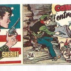 Tebeos: EL PEQUEÑO SHERIFF 214, 1952, HISPANO AMERICANA, ORIGINAL, MUY BUEN ESTADO. Lote 295434968