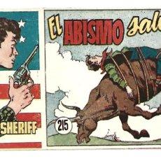 Tebeos: EL PEQUEÑO SHERIFF 215, 1952, HISPANO AMERICANA, ORIGINAL, MUY BUEN ESTADO. Lote 295435188