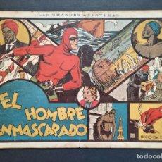 Tebeos: EL HOMBRE ENMASCARADO Nº 1. HISPANO AMERICANA 1941. ORIGINAL 1ª EDICIÓN.. Lote 295637958