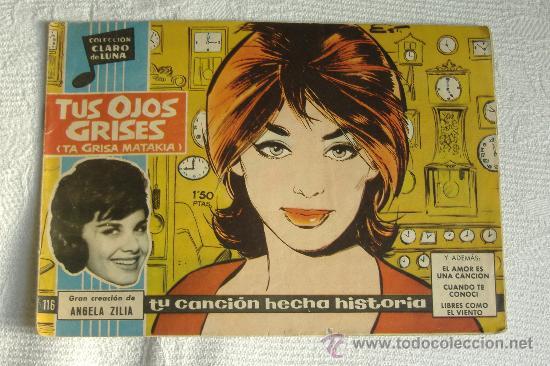 CLARO DE LUNA Nº 116, TUS OJOS GRISES Y ANGELA ZILIA (Tebeos y Comics - Ibero Mundial)
