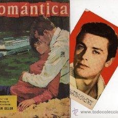 Tebeos: ROMANTICA Nº 148 CON FOTOCOLOR-FICHA DE ALAIN DELON, EN EL INTERIOR SARA MONTIEL Y MAURICE RONET. Lote 26474422