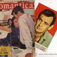 Tebeos: ROMANTICA Nº 155 CON FOTOCOLOR-FICHA DE DAVID JANSSEN, REPORTAJE VITTORIO GASSMAN. Lote 26323912