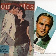 Tebeos: ROMANTICA Nº 158 CON FOTOCOLOR-FICHA DE MARLON BRANDO, REPORTAJE CAPUCINE, WILLIAM HOLDEN. Lote 26417790