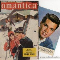 Tebeos: ROMANTICA Nº 167 CON FOTOCOLOR-FICHA DE RICHARD BEYMER, CANCIÓN MINA, CINE SYLVIE VARTAN. Lote 26474363