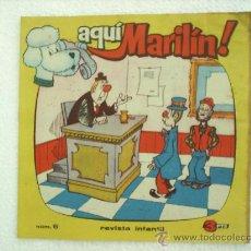 Tebeos: AQUI MARILIN N.6 IBERO MUNDIAL 1963 PAGINA CENYRAL CANCIONES DE MARISOL. Lote 23617833
