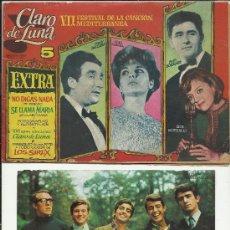 Tebeos: CLARO DE LUNA EXTRA VII FESTIVAL DE LA CANCION MEDITERRANEA CON FOTO OBSEQUIO A COLOR LOS SIREX 1965. Lote 32097690