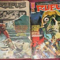 Tebeos: 2 COMIC TERROR GARBO RUFUS 21 Y 23 DE 1975. Lote 33158522