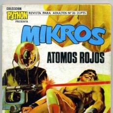 Tebeos: PYTHON Nº 20 MIKROS ATOMOS ROJOS. Lote 35237501
