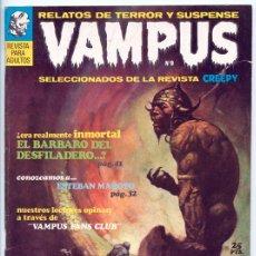 Tebeos: VAMPUS - RELATOS DE TERROR Y SUSPENSE - Nº 9 - IBERO MUNDIAL - MAYO 1972. Lote 42280222