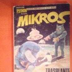 Tebeos: PYTHON - MIKROS - TRANSPLANTE COSMICO - NUMERO 17 - EDITORIAL IBERO MUNDIAL -BUEN ESTADO CJ 4. Lote 52568079