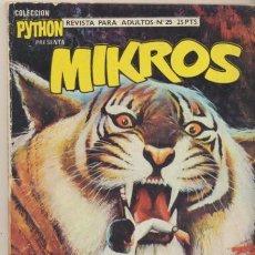 Giornalini: PYTHON MIKROS Nº 25. IBERO MUNDIAL. TACO 25 PTAS - 128 PÁGINAS.. Lote 44102266