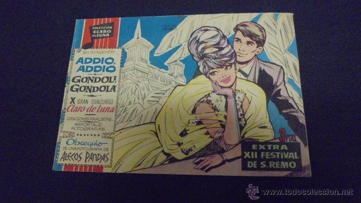 CLARO DE LUNA. EXTRA XII FESTIVAL DE SAN REMO. IBERO MUNDIAL. (Tebeos y Comics - Ibero Mundial)