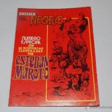 Tebeos: (M15) DOSSIER NEGRO ESPECIAL ESTEBAN MAROTO MARZO 1978, SEÑALES DE USO. Lote 50496627