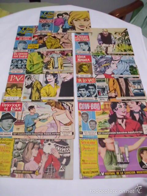 LOTE DE ONCE TEBEOS, COLECCIÓN CLARO DE LUNA - AÑOS 59 -65, CON LAS LETRAS DE LAS CANCIONES DE ÉXITO (Tebeos y Comics - Ibero Mundial)