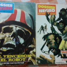 Tebeos: DOSSIER NEGRO Nº 6 Y 12 (IBEROMUNDIAL 1968/70) 2 NOVELAS TAPAS DE CARTÓN.. Lote 50279542