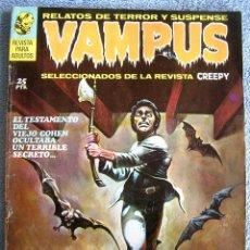 Tebeos: VAMPUS - Nº 1, EN SEPT 1971 - COMIC CON: RELATOS DE TERROR Y SUSPENSE ( SELECCIONADOS DE CREEPY )... Lote 58846266