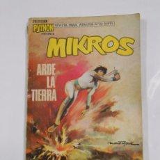 Tebeos: COLECCION PYTHON Nº 22 MIKROS. ARDE LA TIERRA. IBERO MUNDIAL DE EDICIONES. 1971. TDKC23. Lote 83363088