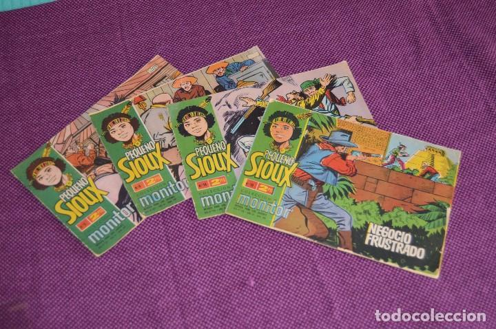 LOTE DE 4 NÚMEROS - EL PEQUEÑO SIOUX - IBERO MUNDIAL - ANTIGUO Y ORIGINAL - HAZME UNA OFERTA (Tebeos y Comics - Ibero Mundial)