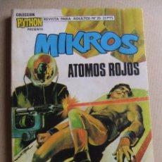 Tebeos: PYTHON Nº 20 MIKOS ATOMOS ROJOS IBERO MUNDIAL DE EDICIONES. Lote 90892420