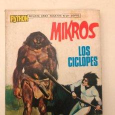 Tebeos: PYTHON Nº 27. MIKROS, LOS CICLOPES. IMDE 1972. Lote 90963410