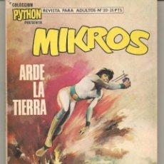 Tebeos: COLECCIÓN PYTHON. Nº 22. MIKROS. ARDE LA TIERRA. IBERO MUNDIAL (ST/C5). Lote 95877568