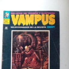 Tebeos: VAMPUS. RELATOS DE TERROR Y SUSPENSE. NUM 10. JUNIO 1972.. Lote 105599219