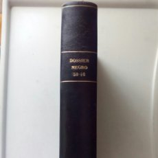 Tebeos: DOSSIER NEGRO ENCUADERNADO CON NUMS 38; 39; 40; 41; 42; 43; 44; 45 Y 46. 1972/73.. Lote 105653298