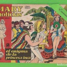 Livros de Banda Desenhada: MARY ''NOTICIAS'' - Nº 110 - EL ENIGMA DE LA PRINCESA INCA - (1964) - COLECCIÓN HEROÍNAS - IBERO.. Lote 129742499