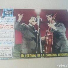 Tebeos: COLECCION CLARO DE LUNA ORIGINAL Nº EXTRA BALADA GITANA FESTIVAL DE LA CANCION MEDITERRANEA. Lote 146218398