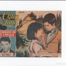 Tebeos: CLARO DE LUNA Nº 327 - LLORANDO EN LA CAPILLA - EN PORTADA ELVIS PRESLEY. Lote 147380162